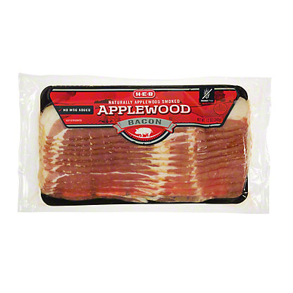 H-E-B Applewood Smoked Bacon, 12 oz